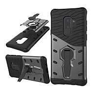 Недорогие Чехлы и кейсы для Galaxy S9 Plus-Кейс для Назначение SSamsung Galaxy S9 S9 Plus Защита от удара со стендом броня Кейс на заднюю панель броня Твердый ПК для S9 Plus S9 S8