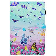 Недорогие Чехлы и кейсы для Samsung Tab-Кейс для Назначение SSamsung Galaxy Tab A 10.1 (2016) со стендом Флип С узором Авто Режим сна / Пробуждение Чехол Бабочка Твердый Кожа PU