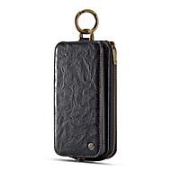 Недорогие Чехлы и кейсы для Galaxy S9 Plus-Кейс для Назначение SSamsung Galaxy S9 Plus Бумажник для карт Кошелек Флип Чехол Сплошной цвет Твердый Настоящая кожа для S9 Plus