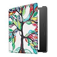 お買い得  携帯電話ケース-ケース 用途 BLU Kindle Oasis 2(第2世代、2017年リリース) 超薄型 フルボディーケース 幾何学模様 フクロウ エッフェル塔 ハード PUレザー のために Kindle Oasis 2(2nd Generation, 2017 Release)