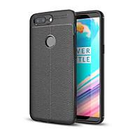 お買い得  携帯電話ケース-ケース 用途 OnePlus 5 / OnePlus 5T 耐衝撃 バックカバー ソリッド ソフト TPU のために One Plus 5 / OnePlus 5T / One Plus 3T