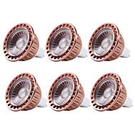 お買い得  LED スポットライト-YWXLIGHT® 6本 5W 400-500lm MR16 LEDスポットライト 1 LEDビーズ COB 調光可能 装飾用 温白色 クールホワイト 12V
