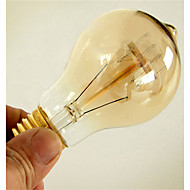 abordables Bombillas Incandescentes-1pc 40W E26 / E27 A60(A19) Blanco Cálido 2300k Retro Regulable Decorativa Bombilla incandescente Vintage Edison 220-240V