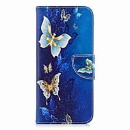Недорогие Чехлы и кейсы для Galaxy S9-Кейс для Назначение SSamsung Galaxy S9 Plus / S9 Кошелек / Бумажник для карт / со стендом Чехол Бабочка Твердый Кожа PU для S9 / S9 Plus / S8 Plus