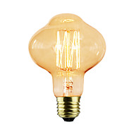 رخيصةأون -1PC 40W E26/E27 D80 ك المتوهجة خمر اديسون ضوء لمبة أس 220-240V V