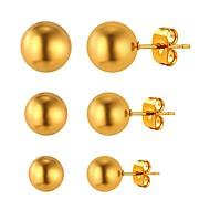お買い得  -女性用 スタッドピアス  -  ゴールドメッキ シンプル, ファッション ゴールド / シルバー 用途 日常 / デート