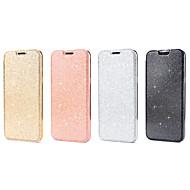 Недорогие Чехлы и кейсы для Galaxy S8-Кейс для Назначение SSamsung Galaxy S8 S7 Бумажник для карт Флип Чехол Сплошной цвет Сияние и блеск Твердый Кожа PU для S8 Plus S8 S7
