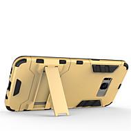 Недорогие Чехлы и кейсы для Galaxy S8 Plus-Кейс для Назначение SSamsung Galaxy S8 Plus S8 Защита от удара со стендом Кейс на заднюю панель Сплошной цвет Твердый ПК для S8 Plus S8
