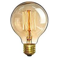 abordables Bombillas Incandescentes-1pc 40W E26/E27 G80 Blanco Cálido 2200-2700 K Retro Regulable Decorativa Bombilla incandescente Vintage Edison 220-240V