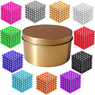 cheap Novelty Toys-Magnet Toy Magnetic Balls Super Strong Rare-Earth Magnets 216*1   216*2   216*3pcs Magnetic Magnetic Type Professional Level DIY 3mm Cube