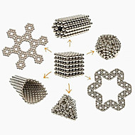 tanie Zabawki i hobby-Zabawki magnetyczne Klocki Magiczne rekwizyty Magnes neodymowy Kulki magnetyczne 216pcs 3mm Magnes Metal Magnetyczne Kula Cylindryczny