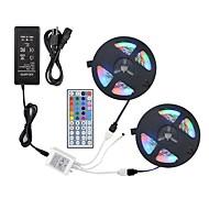 Недорогие LED ленты-ZDM® 2x5M Наборы ламп / RGB ленты 600 светодиоды 2835 SMD 1 пульт дистанционного управления 44Keys / 1 кабель переменного тока / 1 адаптер x 12V 3A RGB Можно резать / Для вечеринок / Декоративная