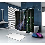 お買い得  浴室用小物-シャワーカーテン&フック カジュアル 田園風 ポリエステル 現代風 ノベルティ柄 機械製 防水 浴室