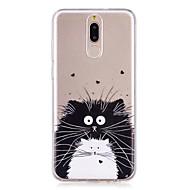 お買い得  携帯電話ケース-ケース 用途 Huawei Mate 10 Mate 10 lite パターン バックカバー 猫 ソフト TPU のために Mate 10 lite Mate 10 pro Mate 10