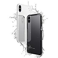 Недорогие Кейсы для iPhone 8 Plus-Кейс для Назначение Apple iPhone X iPhone 8 Plus Прозрачный Кейс на заднюю панель Однотонный Твердый Закаленное стекло для iPhone X