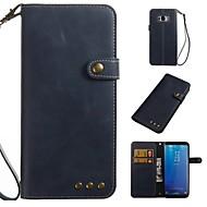 Недорогие Чехлы и кейсы для Galaxy S7-Кейс для Назначение SSamsung Galaxy S8 Plus S8 Бумажник для карт Кошелек Флип Чехол Однотонный Мягкий Кожа PU для S8 Plus S8 S7 edge S7