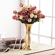 abordables Flores Artificiales-Flores Artificiales 0 Rama Lujo / Europeo Florero Flor de Mesa / Individual Jarrón