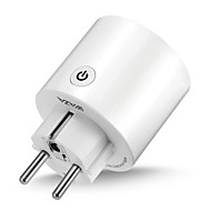 abordables Plug inteligente-waza smart plug (eu) mini outlet compatible con amazon alexa y google assistant, wifi habilitado con control remoto smart socket con función de temporizador, no se requiere hub