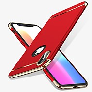 Недорогие Кейсы для iPhone 8-Кейс для Назначение Apple iPhone X iPhone 8 Защита от удара Покрытие Кейс на заднюю панель Однотонный Твердый ПК для iPhone X iPhone 8