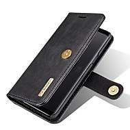 お買い得  -ケース 用途 Samsung Galaxy S9 カードホルダー ウォレット スタンド付き フリップ フルボディーケース ソリッド ハード 本革 のために S9
