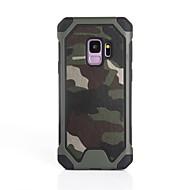 Недорогие Чехлы и кейсы для Galaxy S7-Кейс для Назначение SSamsung Galaxy S9 S9 Plus Защита от удара Кейс на заднюю панель Камуфляж Мягкий Силикон для S9 Plus S9 S8 Plus S8 S7