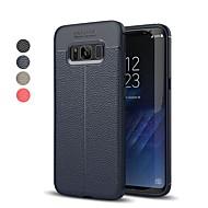 Недорогие Чехлы и кейсы для Galaxy S9-Кейс для Назначение SSamsung Galaxy S9 S9 Plus Рельефный Кейс на заднюю панель Однотонный Мягкий ТПУ для S9 Plus S9 S8 Plus S8 S7 edge S7