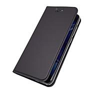 Недорогие Чехлы и кейсы для Huawei Honor-Кейс для Назначение Huawei Honor View 10(Honor V10) Honor 7X Бумажник для карт со стендом Флип Магнитный Чехол Однотонный Твердый Кожа PU