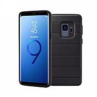 Недорогие Чехлы и кейсы для Galaxy S9 Plus-Кейс для Назначение SSamsung Galaxy S9 Plus / S9 со стендом Кейс на заднюю панель Однотонный Мягкий ТПУ для S9 / S9 Plus / S8 Plus
