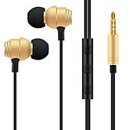 abordables Accesorios para Tablet y PC-T018 En el oido Audio IN Auriculares Dinámica Aluminum Alloy Deporte y Fitness Auricular Auriculares