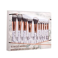 baratos Maquiagem & Produtos para Unhas-Conjunto - 10 Pincéis de maquiagem Profissional Conjuntos de pincel / Pincel para Blush / Pincel para Sombra Fibra Sintética / Pêlo
