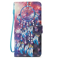 Недорогие Чехлы и кейсы для Galaxy S8-Кейс для Назначение SSamsung Galaxy S9 S9 Plus Бумажник для карт Кошелек со стендом Флип Магнитный Чехол Ловец снов Твердый Кожа PU для