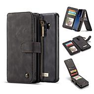 Недорогие Чехлы и кейсы для Galaxy S8 Plus-Кейс для Назначение SSamsung Galaxy S9 S9 Plus Бумажник для карт Кошелек Защита от удара со стендом Флип Чехол Однотонный Твердый