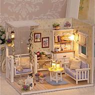 abordables Muñecas y Peluches-3D Wooden Miniaturas Dollhouse Casa de Muñecas Encantador Exquisito Romance Piezas Niños Adulto Chica Juguet Regalo