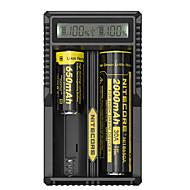 お買い得  -UM20 Battery Charger Smart パータブル USB LCD のために リチウムイオン 18650, 18490, 18350, 17670, 17500, 16340(RCR123), 14500, 10440