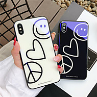 Case For Apple iPhone X iPhone 8 Shockproof Pattern Back Cover Heart Cartoon Hard Tempered Glass for iPhone X iPhone 8 Plus iPhone 8