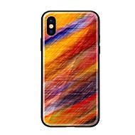 Недорогие Кейсы для iPhone 8 Plus-Кейс для Назначение Apple iPhone X iPhone 8 С узором Кейс на заднюю панель Градиент цвета Твердый Закаленное стекло для iPhone X iPhone 8