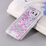 cheap Cases / Covers for Samsung-Case For Samsung Galaxy Samsung Galaxy Case Flowing Liquid Back Cover Glitter Shine PC for S8 Plus S8 S6 edge plus S6 edge S6 S5 S4 S3