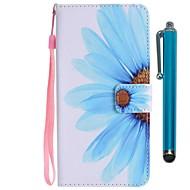 Недорогие Чехлы и кейсы для Galaxy S7 Edge-Кейс для Назначение SSamsung Galaxy S9 S9 Plus Бумажник для карт Кошелек со стендом Флип Магнитный Чехол Цветы Твердый Кожа PU для S9