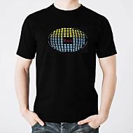 voordelige LED T-shirts-LED T-shirts Valaistus Modieus Design Elektro Verlicht Glow in the dark Geluidsgeactiveerd Puhdasta puuvillaa Feest Informeel 2 AAA