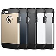 Недорогие Кейсы для iPhone 8 Plus-Кейс для Назначение Apple iPhone 8 iPhone 7 Защита от удара броня Кейс на заднюю панель Однотонный броня Мягкий ТПУ для iPhone X iPhone 8
