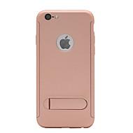 Недорогие Кейсы для iPhone 8-Кейс для Назначение Apple iPhone X iPhone 8 со стендом Матовое Чехол Однотонный Твердый ПК для iPhone X iPhone 8 Pluss iPhone 8 iPhone 7