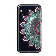 Недорогие Кейсы для iPhone 8 Plus-Кейс для Назначение Apple iPhone X iPhone 8 С узором Кейс на заднюю панель Мандала Твердый Закаленное стекло для iPhone X iPhone 8 Pluss