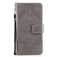 preiswerte Handyhüllen-Hülle Für Wiko WIKO Robby 2 Kreditkartenfächer Geldbeutel mit Halterung Flipbare Hülle Geprägt Ganzkörper-Gehäuse Blume Hart PU-Leder für