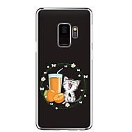 Недорогие Чехлы и кейсы для Galaxy S9-Кейс для Назначение SSamsung Galaxy S9 Прозрачный С узором Кейс на заднюю панель Кот Цветы Мягкий ТПУ для S9