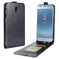 Недорогие Чехлы и кейсы для Galaxy J3(2017)-Кейс для Назначение SSamsung Galaxy J3 (2017) Бумажник для карт Флип Чехол Однотонный Твердый Кожа PU для J3 (2017)