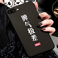 Недорогие Кейсы для iPhone 8-Кейс для Назначение Apple iPhone X / iPhone 7 Plus С узором Кейс на заднюю панель Слова / выражения Твердый ПК для iPhone X / iPhone 8 Pluss / iPhone 8