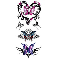 abordables Tatuajes Temporales-1 pcs Tatuajes Adhesivos Los tatuajes temporales Series de Tótem / Series de Animal Impermeable Artes de cuerpo Cuerpo / brazo / hombro