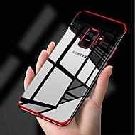 Недорогие Чехлы и кейсы для Galaxy S7-Кейс для Назначение SSamsung Galaxy S9 S9 Plus Покрытие Ультратонкий Прозрачный Body Кейс на заднюю панель Однотонный Мягкий ТПУ для S9