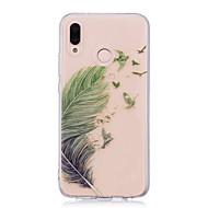 お買い得  携帯電話ケース-ケース 用途 Huawei P20 Pro / P20 lite IMD / クリア / パターン バックカバー 羽毛 ソフト TPU のために Huawei P20 / Huawei P20 Pro / Huawei P20 lite / P10 Plus / P10 Lite / P10