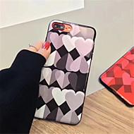 Недорогие Кейсы для iPhone 8 Plus-Кейс для Назначение Apple iPhone X iPhone 7 Plus С узором Кейс на заднюю панель С сердцем Мягкий ТПУ для iPhone X iPhone 8 Pluss iPhone 8